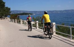 Cycling on Hvar island