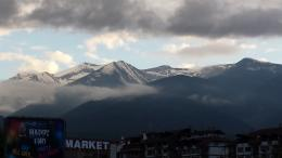 Bansko, Pirin Mountain at background view
